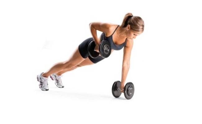 Plank Arm Row And Rotate