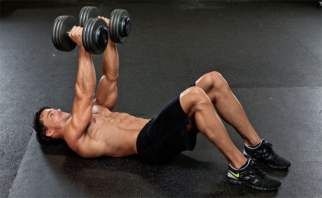 Dumbbell Workout With Floor Press