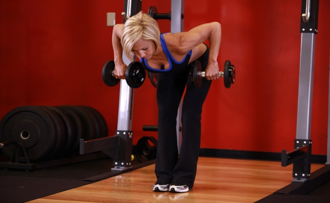 One-Arm Bent-Over Row Workout With Dumbbell