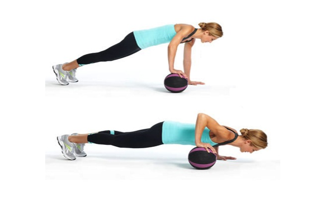 Roll The Ball With Uneven Push-Up