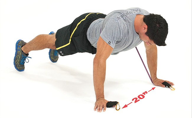 Band Resisted Push Ups