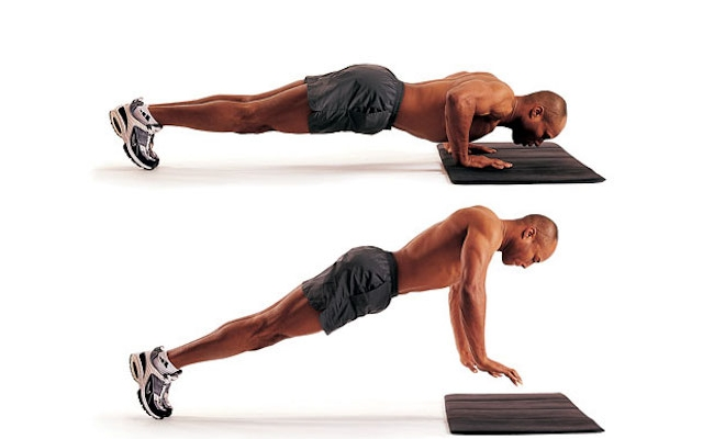 Do Push-Ups With Feet Elevated