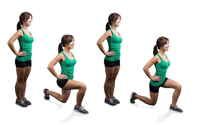 Stepping Lunges