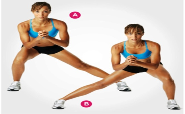 Side and Cross over Lunge