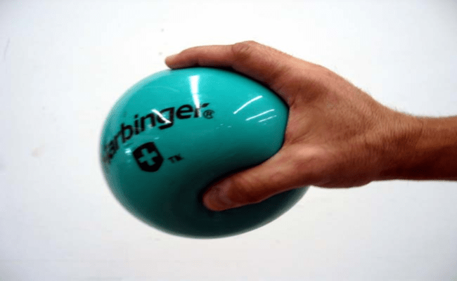 Squeeze A Rubber Ball