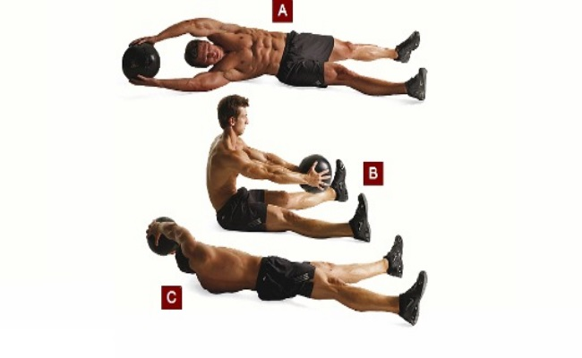 Raised Diagonal Crunches