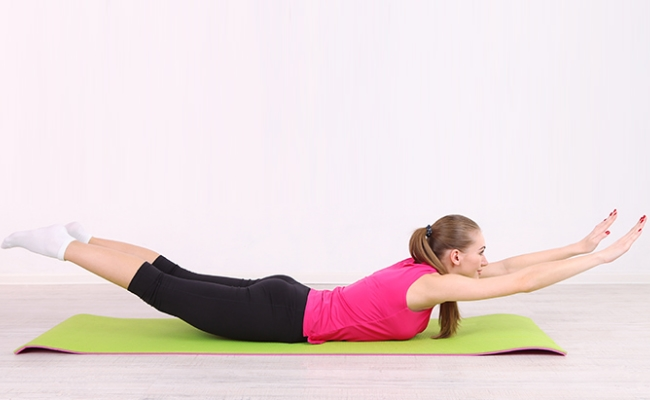 Prone Y Extension Exercise