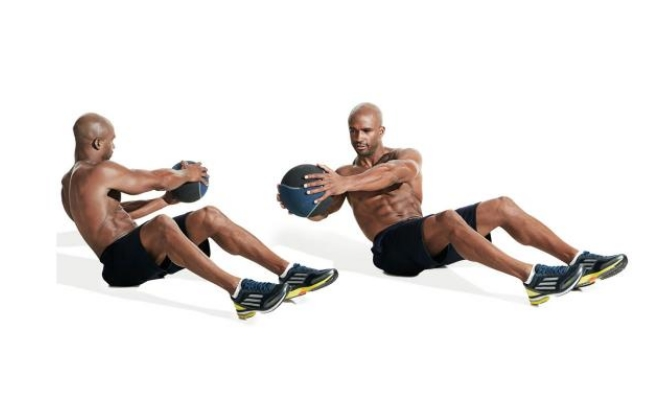 Seated Twist With Ball