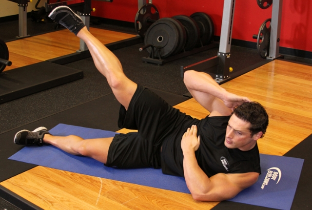 Side Crunch With Leg Lift