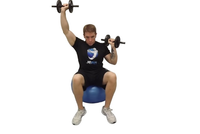 Shoulder Press Seated With Dumbbell