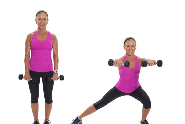 Side Lunge With Front Raise