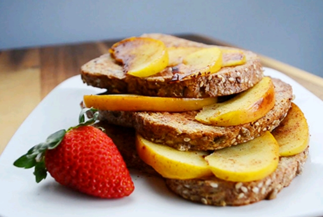 Sauteed Apples and Protein French Toast