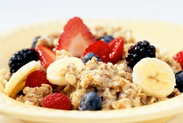 Oatmeal And Fresh Fruits