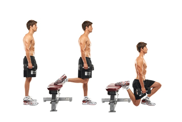 Split Squat With Rear Feet Elevation