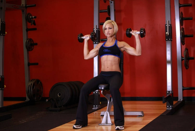Seated Dumbell Press:
