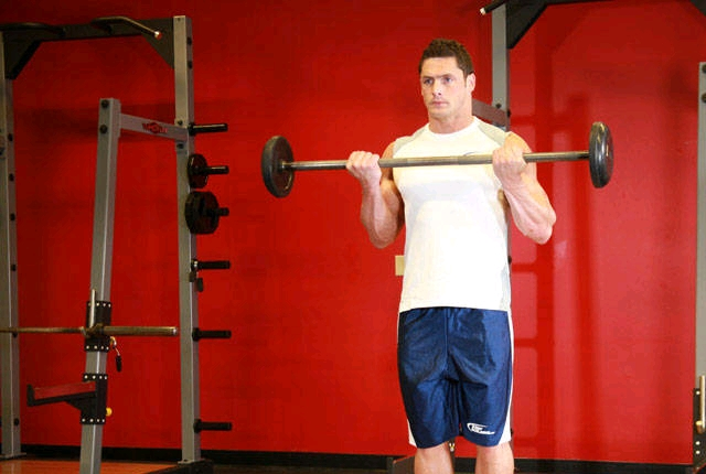 Standing Barbell Curl: