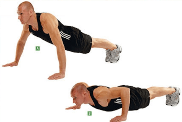 Wide Grip Pushups