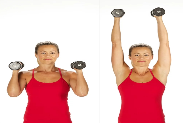 Bicep Curl Overhead Press