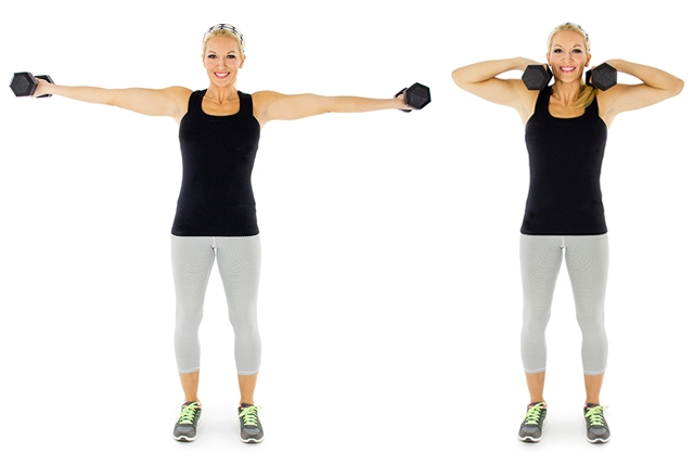 Dumbbells and Horizontal Curl