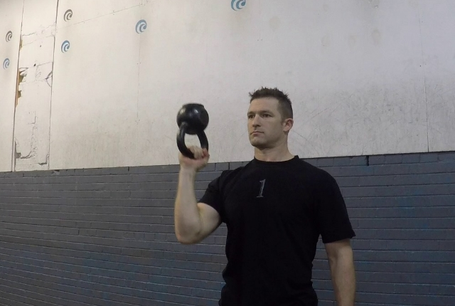 Single Arm Kettlebell Press
