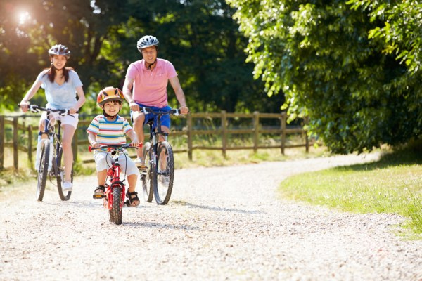 Biking is always a fun way to bond with the family too.