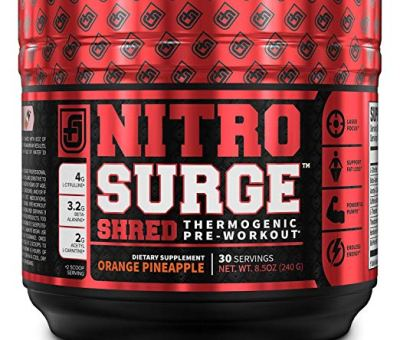 Nitrosurge Shred Pre Workout Fat Burner Supplement