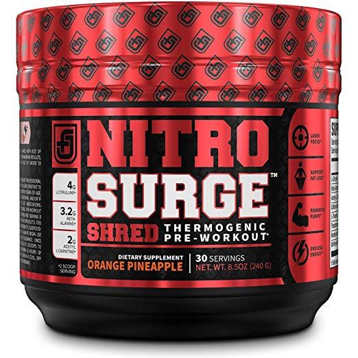 Nitrosurge Shred Pre Workout Fat Burner Supplement