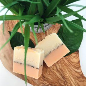 Orange and lemon soap bar
