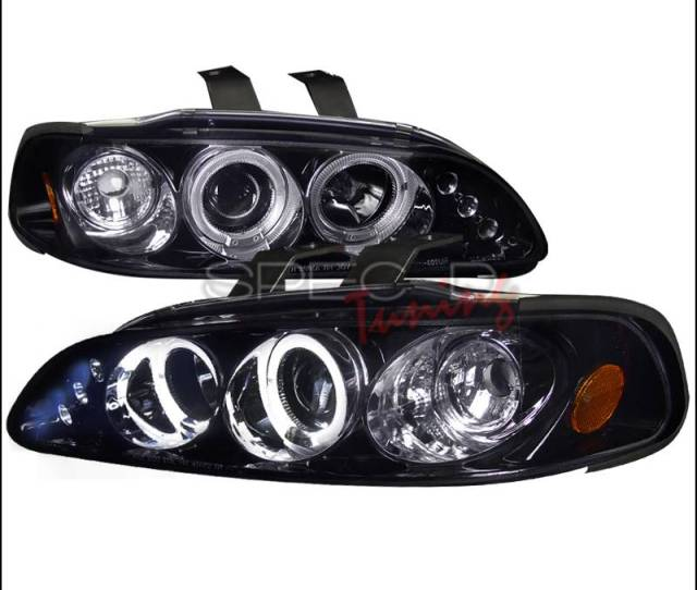 Spec D Honda Civic Spec D Black Housing Projector Headlights Smoked Lens