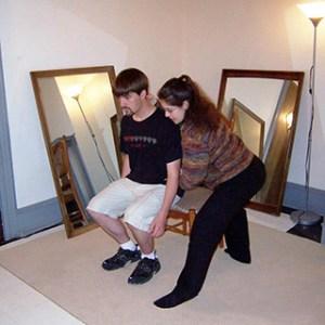 Caitlin teaching an Alexander Technique lesson