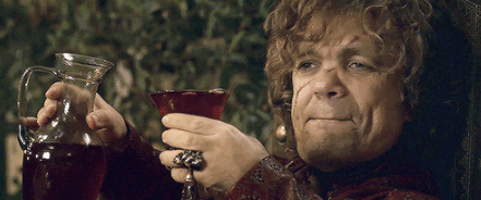 tyrion drinking wine