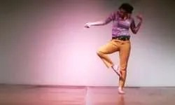 "a snapshot from the improvisation piece ""Why does my dancing look nothing like my choreography?"""