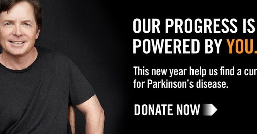 Michael J Fox Donate for Parkinsons