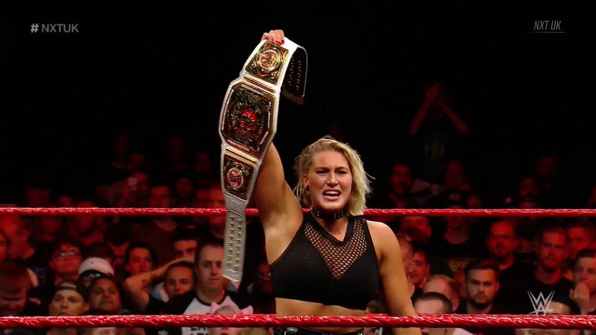 Rhea Ripley Wins Wwe Nxt Uk Women S Title Big Gold Belt