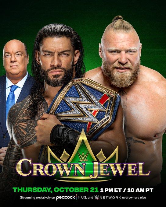 WWE Confirms Brock Lesner Vs Roman Reigns At Crown Jewel - Big Gold Belt  Media | Wrestling, Movies, Comics And More!