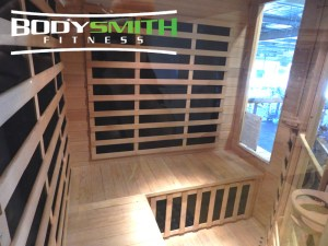 Inside a BodySmith Far Infrared Sauna