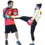 Kickboxing pad work at BodySmith Fitness