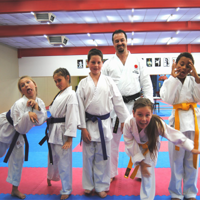 Karate kids post grading