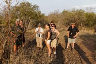 Wollhuter Trail: Erklärungen durch den Ranger