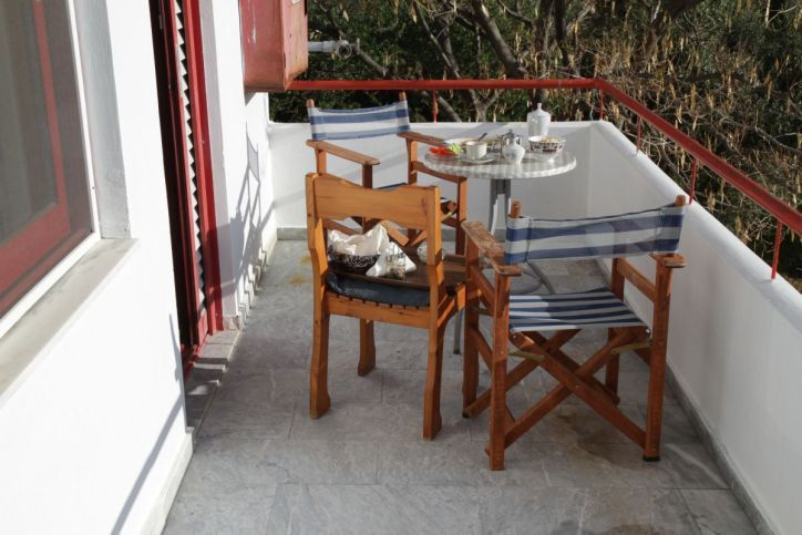 Frühstück in Plomari