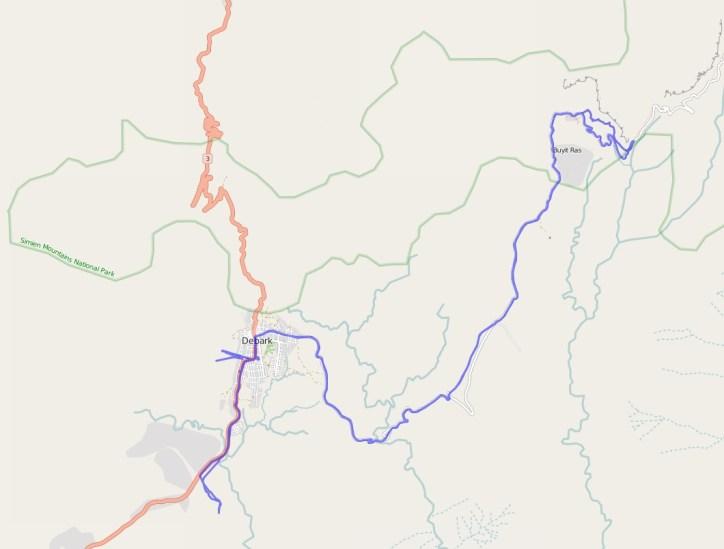Reiseroute Äthiopien 17.02.2016