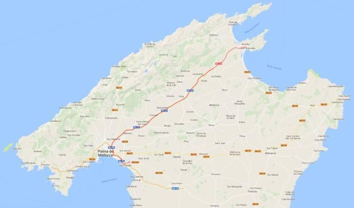 Reiseroute Mallorca 14.2.2018
