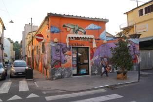 Buntes Haus in Carrara