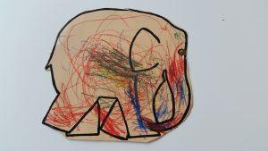 tekening olifant