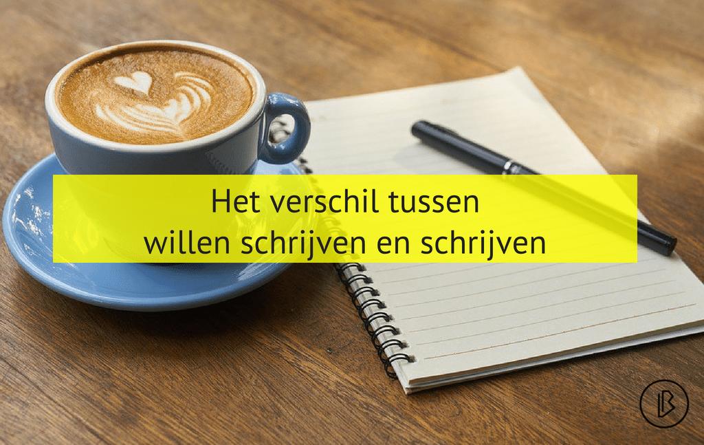 Het verschil tussen willen schrijven en schrijven