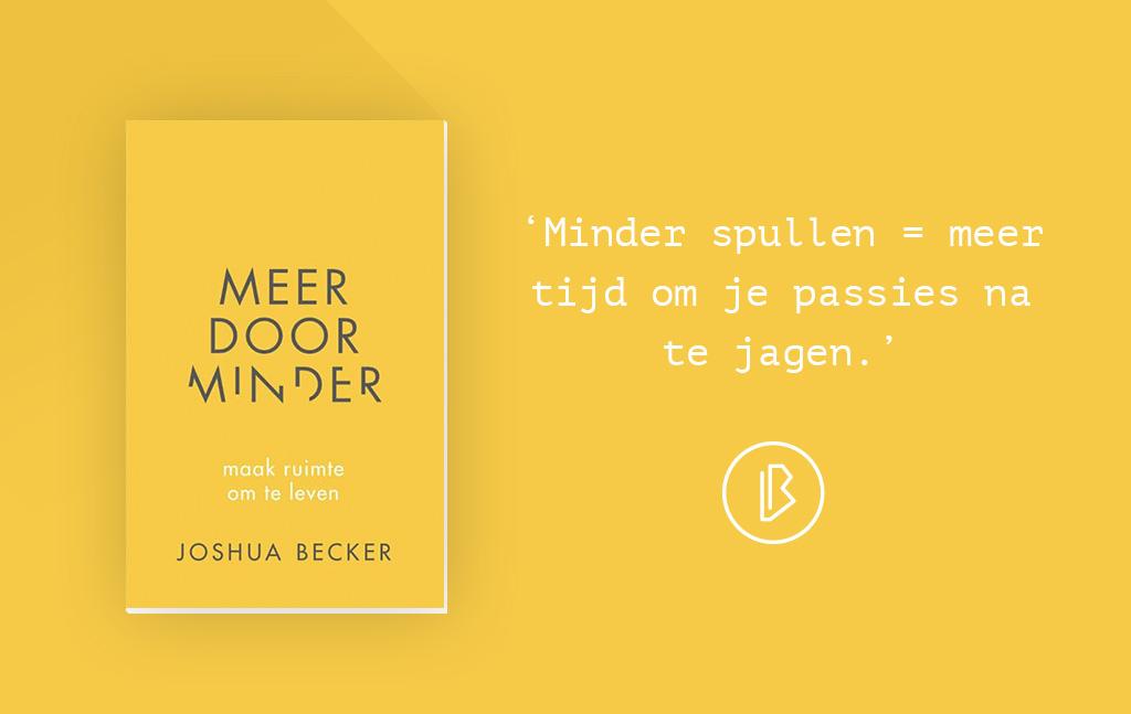 Recensie: Joshua Becker – Meer door minder