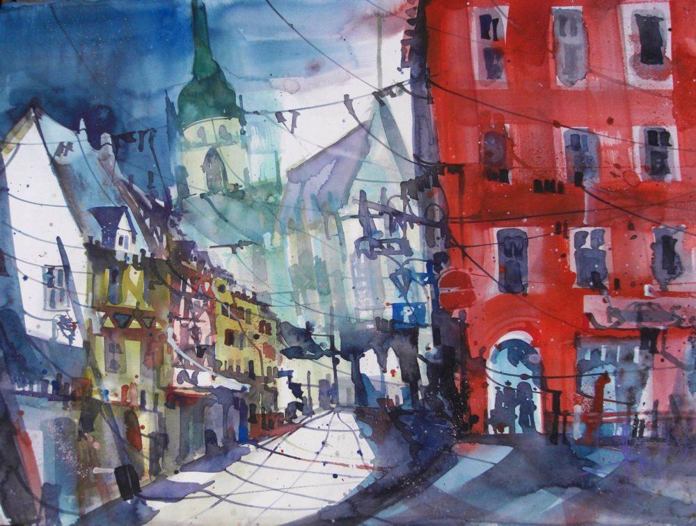 Colmar (Frankreich), Watercolor, 56/76 cm