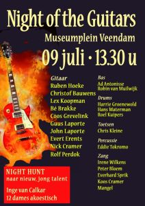 Zaterdag 9 juli 2016 Night Of The Guitars in Veendam