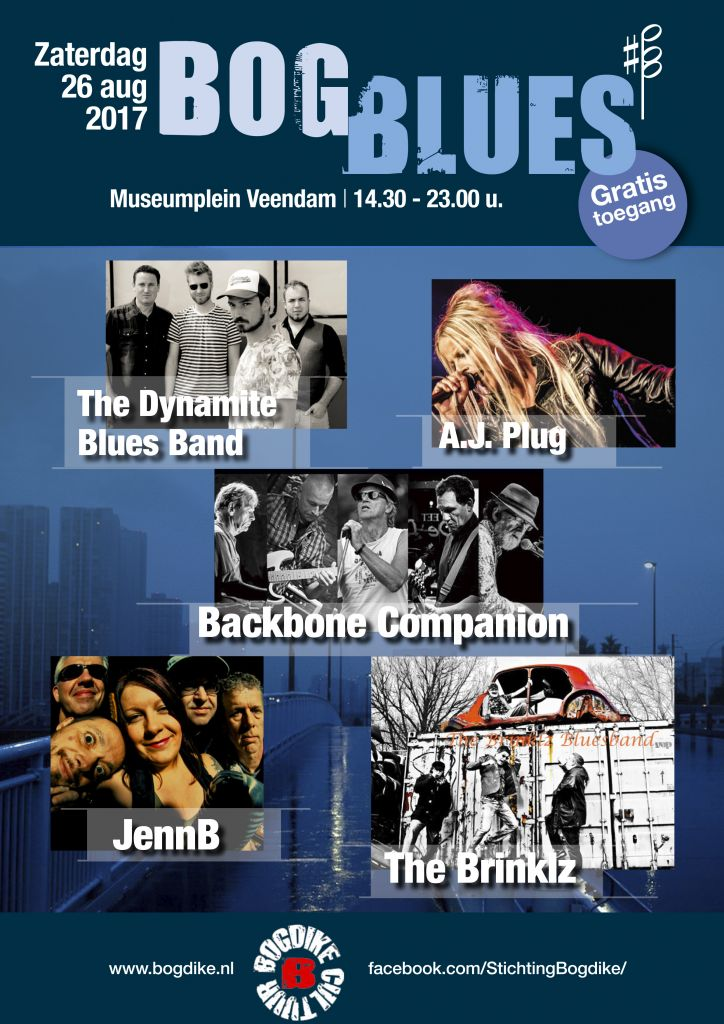 Zaterdag 26 augustus 2017 – BogBlues – Museumplein Veendam