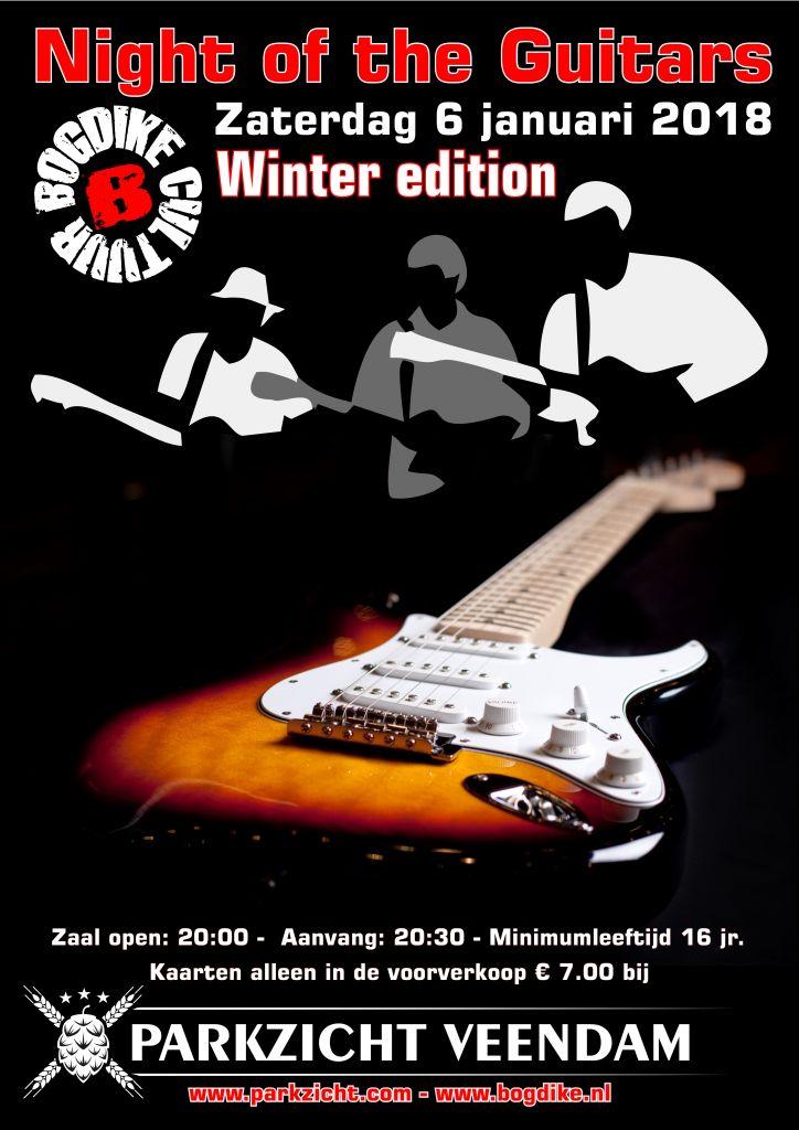 Voorverkoop Night of the Guitars 2018 Hotel Parkzicht Veendam van start